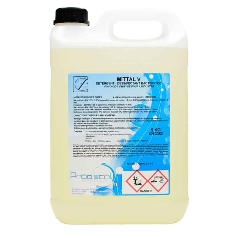 Désinfectant bactéricide Mittal V